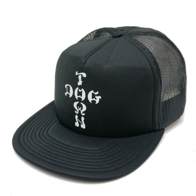 DOG TOWN ドッグタウン メッシュキャップ CROSS LOGO TRUCKER CAP キャップ 帽子 ブラック