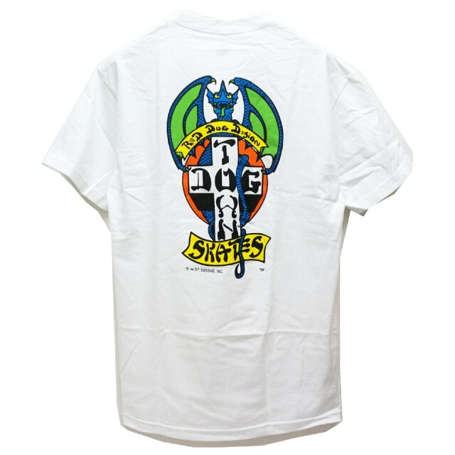 DOG TOWN ドッグタウン Tシャツ RED DOG S/S Tee ホワイト