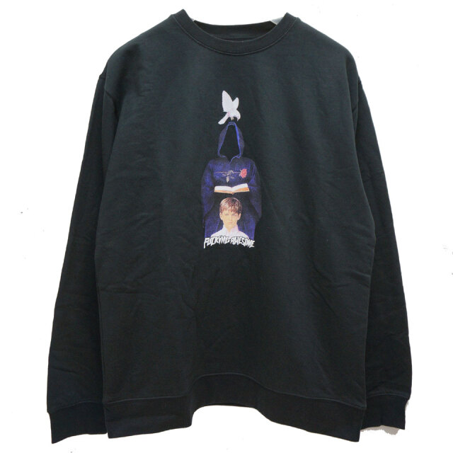 FUCKING AWESOME ファッキングオーサム IN THE NAME CREW SWEAT ブラック