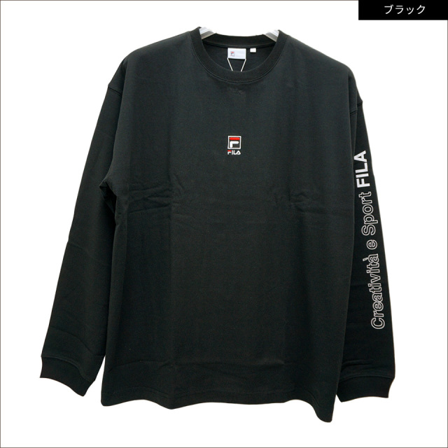 SALE セール フィラ FILA HERITAGE ロンT BOX LOGO L/S Tee Tシャツ 長袖 FM9807