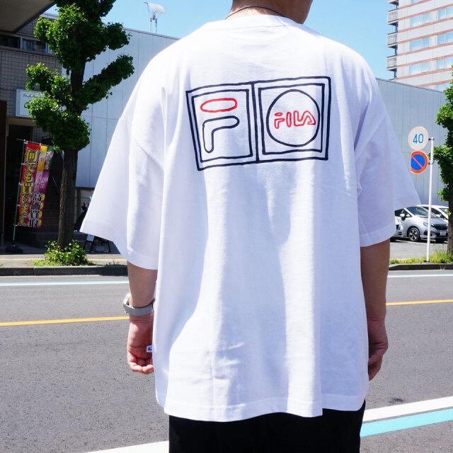 全2色 フィラ FILA HERITAGE Tシャツ NAIJEL GRAPH LOGO S/S Tee ビッグシルエット ホワイト ネイビー FM9775