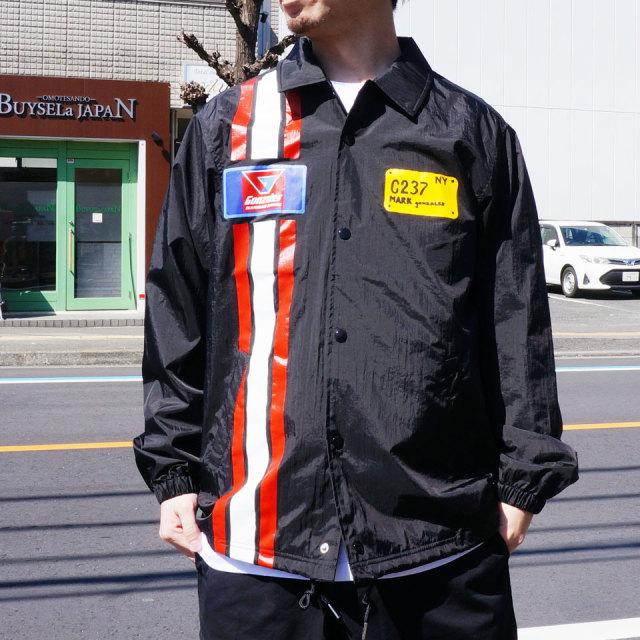 MARK GONZALES マークゴンザレス コーチジャケット RACING COACH JACKET ブラック 黒 BLACK