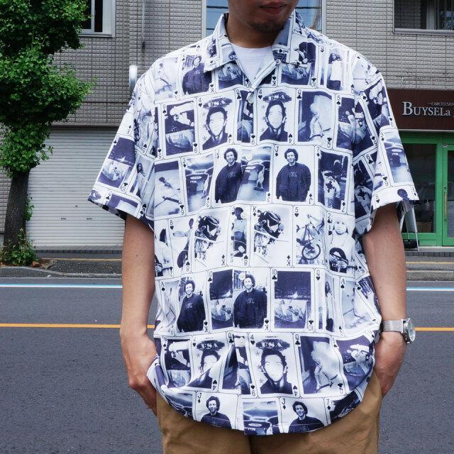 SALE セール MARK GONZALES マークゴンザレス 総柄シャツ 半袖シャツ ALL OVER PRINT S/S SHIRT ホワイト 2G8-0946