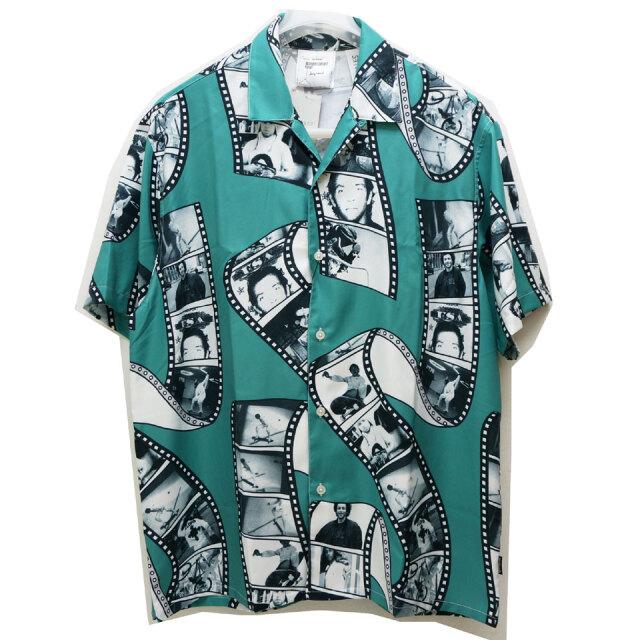 SALE セール MARK GONZALES マークゴンザレス 総柄シャツ 半袖シャツ ALL OVER PRINT S/S SHIRT エメラルド 2G8-0946