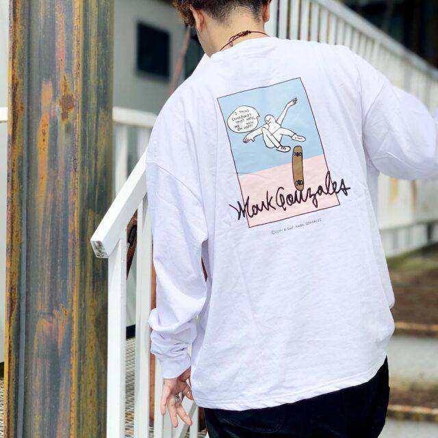 全3色 マークゴンザレス MARK GONZALES ロンT Tシャツ SKATEBOARDING L/S Tee 長袖 ビッグシルエット ホワイト ブラック ブル