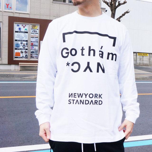 ゴッサム GOTHAM ロンT Tシャツ ORIGINAL LOGO L/S Tee ホワイト WHITE 白 ブラック 黒 BLACK 長袖 GN618