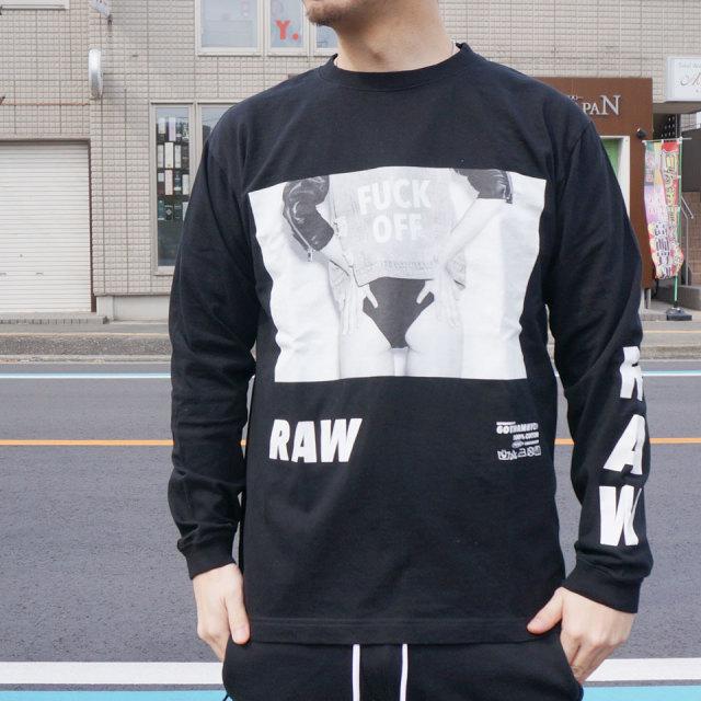 ゴッサム GOTHAM ロンT Tシャツ RAW  L/S Tee ホワイト WHITE 白 ブラック 黒 BLACK 長袖 GN612