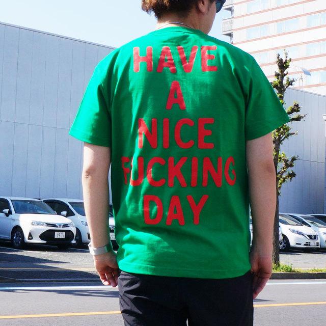ゴッサム GOTHAM NYC Tシャツ WHAT THE FUCK S/S Tee ベージュ グリーン GN604
