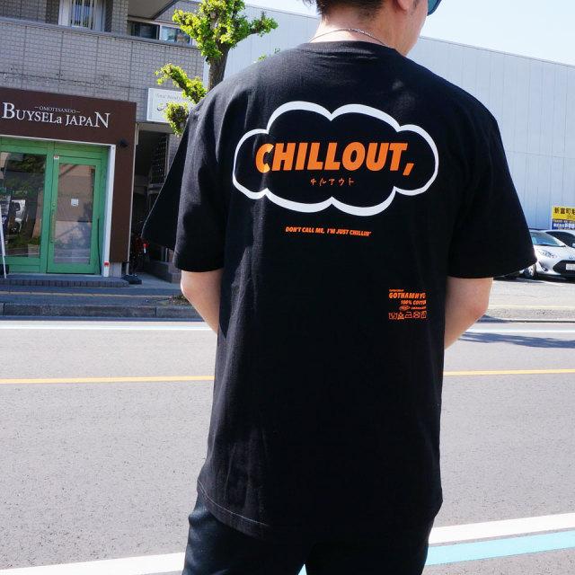 ゴッサム GOTHAM NYC Tシャツ CHILL OUT S/S Tee ブラック グリーン GN603