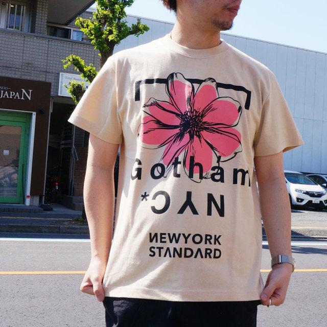 ゴッサム GOTHAM NYC Tシャツ FLOWER S/S Tee ホワイト ベージュ GN602