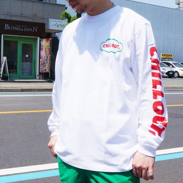 ゴッサム GOTHAM ロンT Tシャツ CHILL OUT L/S Tee ホワイト WHITE 白 ブラック 黒 BLACK 長袖