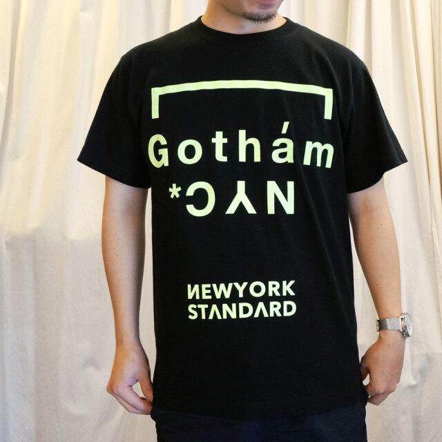 SALE セール ゴッサム GOTHAM NYC Tシャツ GOTHAM NYC NEON S/S Tee ブラック/ネオンイエロー
