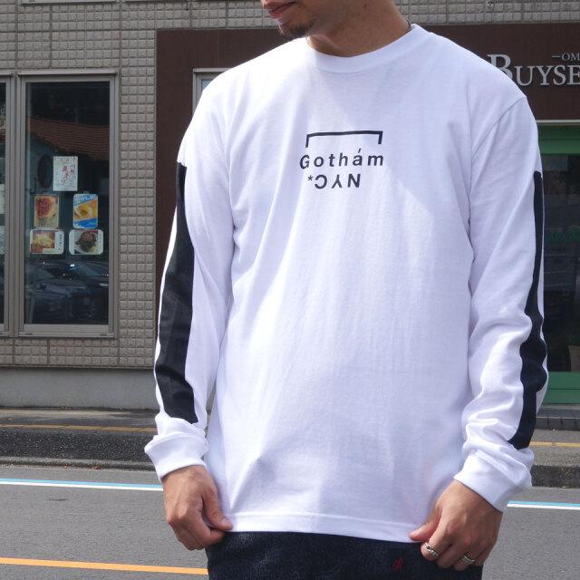 全2色 GOTHAM NYC ゴッサム ロンT Tシャツ GOTHAM NYC LINE L/S Tee ホワイト ブラック