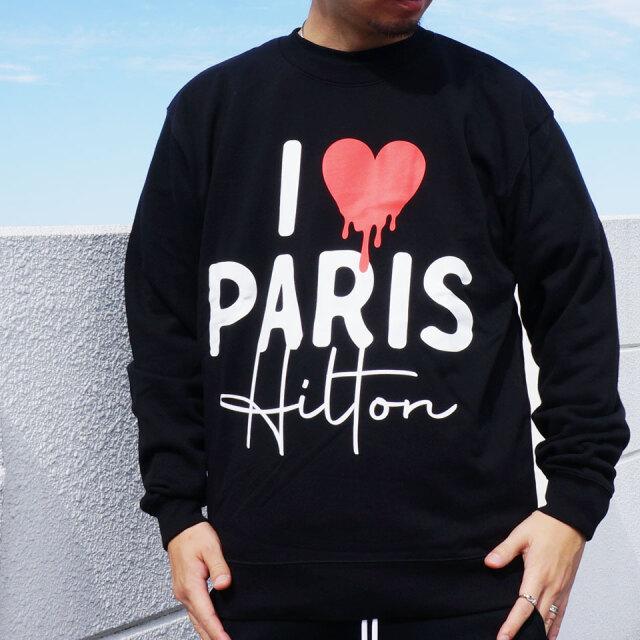 SALE セール 全2色 GOTHAM NYC ゴッサム クルースウェット トレーナー I LOVE PARIS HILTON CREW ブラック グレー