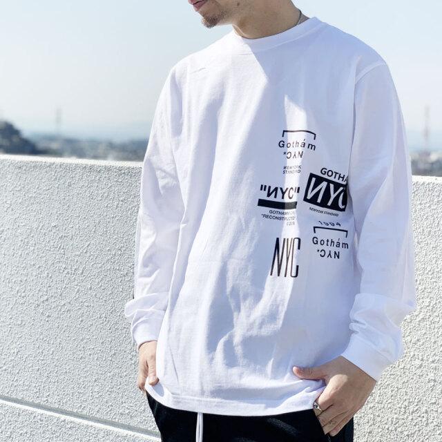 全2色 GOTHAM NYC ゴッサム ロンT Tシャツ MULTI LOGO L/S Tee ホワイト ブラック