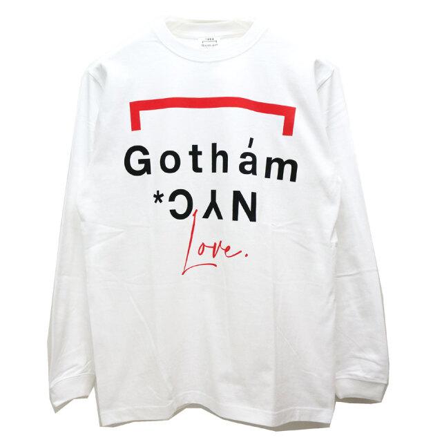 GOTHAM NYC ゴッサム ロンT Tシャツ GOTHAM LOVE L/S Tee ホワイト