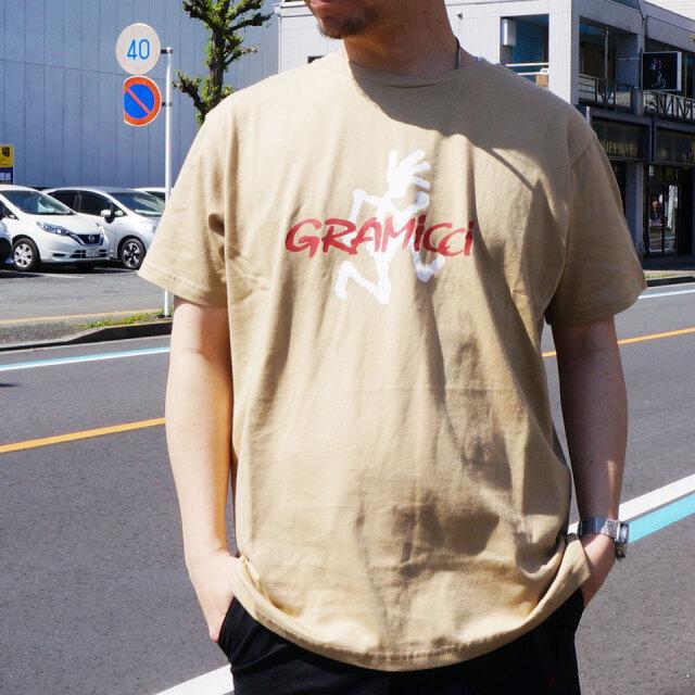 全2色 GRAMICCI グラミチ Tシャツ RUNNING MAN S/S Tee ホワイト ベージュ