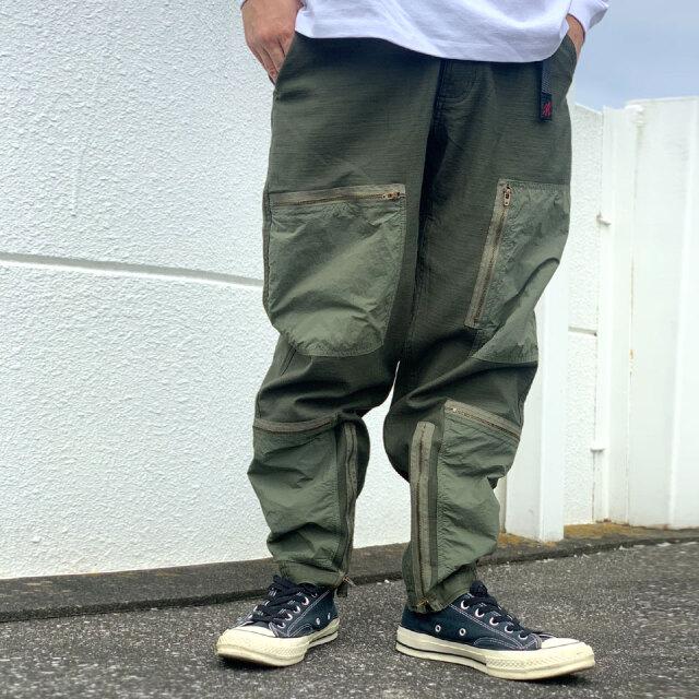 全2色 グラミチ GRAMICCI パラシュートパンツ BACK SATIN PARACHUTE PANTS ミリタリー カーゴパンツ GMP-21F018 オリーブ ブラック