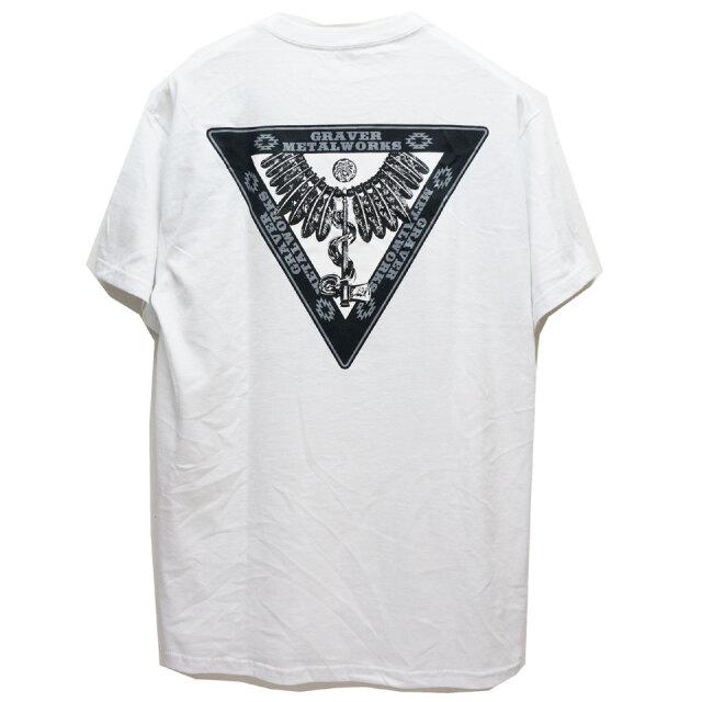 グレーバーメタルワークス GRAVER METAL WORKS Tシャツ LOGO S/S Tee 半袖 バックプリント ホワイト ブラック レッド 白 黒 赤