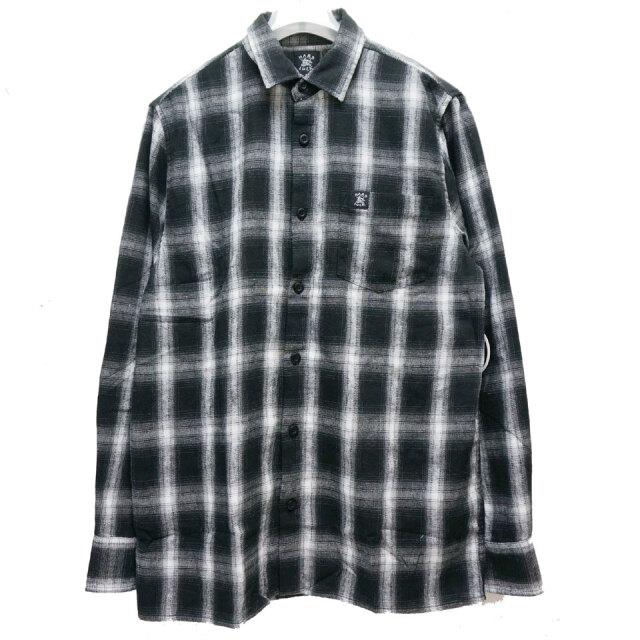 HARD LUCK ハードラック  ROCKET FLANNEL SHIRT ネルシャツ オンブレチェック ブラック