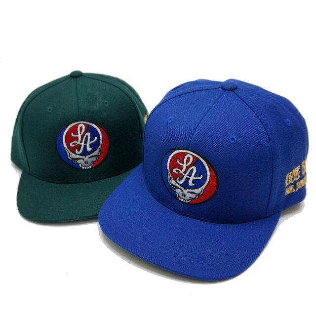 全2色 HOT ROD LA ホットロッド BOOTLEG YOUR FACE SNAPBACK スナップバック 帽子 ロイヤルブルー グリーン