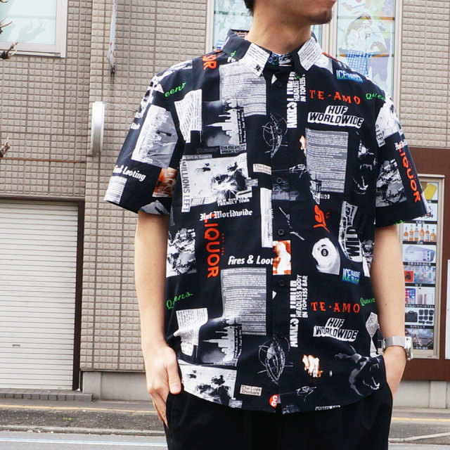 HUF ハフ HEADLINES S/S SHIRT