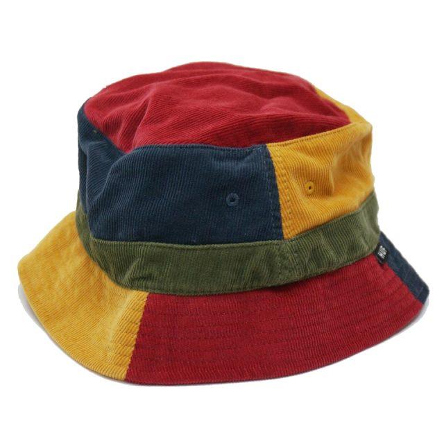 HUF ハフ バケットハット MENDOZA BUCKET HAT コーデュロイ ハット 帽子 マルチカラー