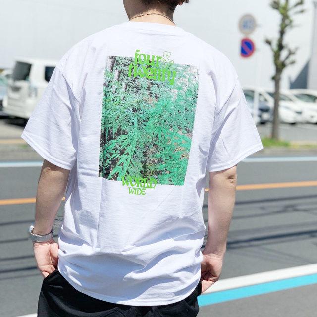 HUF ハフ Tシャツ FOUR AND TWENTY S/S Tee ホワイト ブラック 420COLLECTION