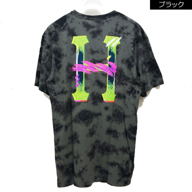 全2色 HUF ハフ Tシャツ CLASSIC H WATERCOLOR  S/S Tee タイダイ ホワイト ブラック