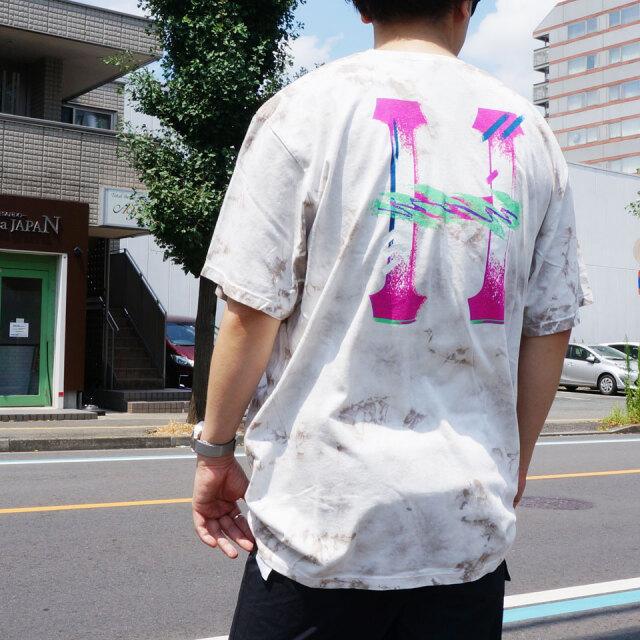SALE セール 全2色 HUF ハフ Tシャツ CLASSIC H WATERCOLOR  S/S Tee タイダイ ホワイト ブラック