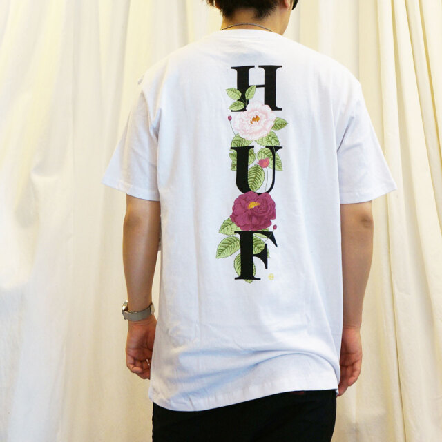 SALE セール 全2色 HUF ハフ Tシャツ CENTRAL PARK S/S POCKET Tee バックプリント ホワイト ブラック