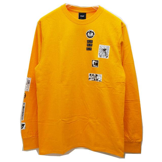 HUF ハフ ロンT Tシャツ MASTERS L/S Tee オレンジ