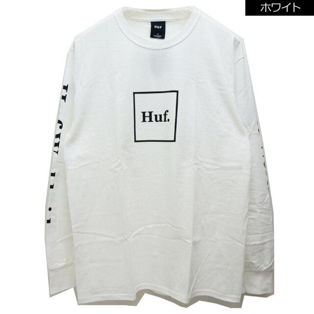 全2色 HUF ハフ ロンT Tシャツ ESSENTIAL DOMESTIC L/S Tee ホワイト ブラック 定番