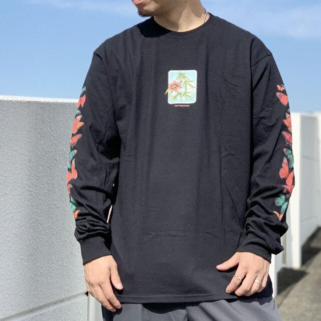 HUF ハフ ロンT Tシャツ MONARCH L/S Tee ブラック 黒