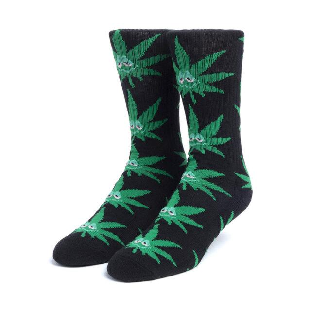HUF ハフ ソックス 靴下 GREEN BUDDY SOCKS ブラック