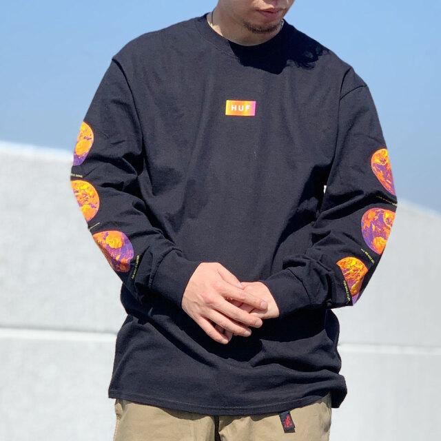 HUF ハフ ロンT Tシャツ CLIMATE MELTDOWN L/S Tee ブラック 黒