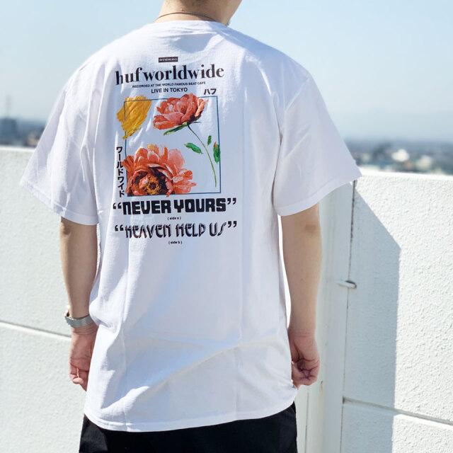 全2色 HUF ハフ Tシャツ NEVER YOURS S/S Tee バックプリント ホワイト ブラック