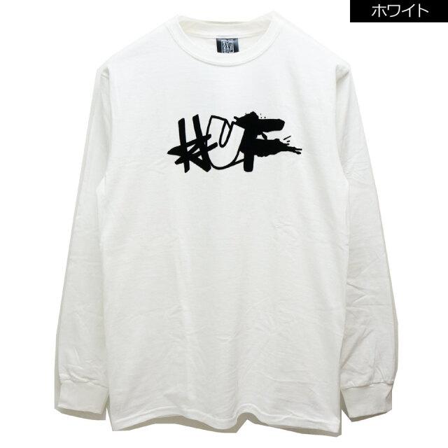 HUF ハフ ロンT Tシャツ HUF × HAZE REMIX L/S Tee ホワイト ブラック