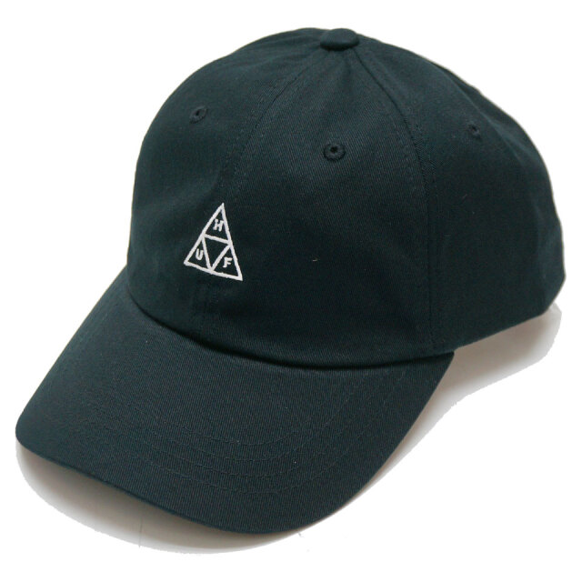 HUF ハフ ローキャップ ESSENTIAL TRIPLE TRIANGLE CURVED CAP ブラック