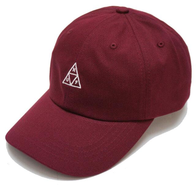 HUF ハフ ローキャップ ESSENTIAL TRIPLE TRIANGLE CURVED CAP オックスブラッド