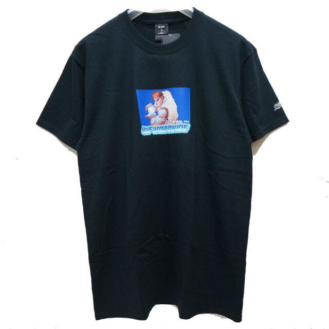 HUF ハフ HUF × STREET FIGHTER RYU S/S Tee Tシャツ ストリートファイター ブラック