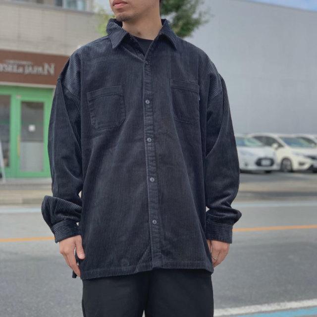 INTERBREED インターブリード コーデュロイシャツ WIDE RANGE CORDUROY SHIRT ブラック