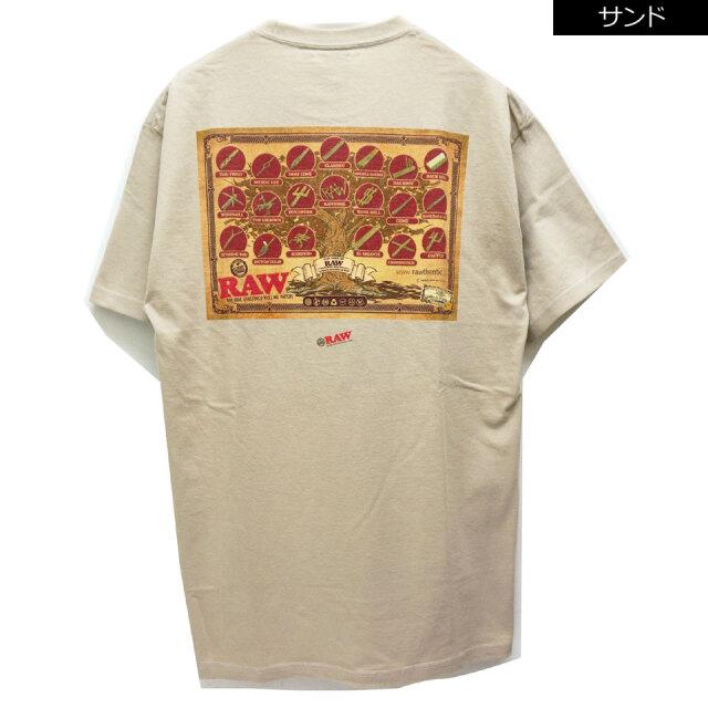 全2色 INTERBREED インターブリード Tシャツ INTERBREED × RAW TREE OF RAW S/S Tee コラボ ブラック サンド