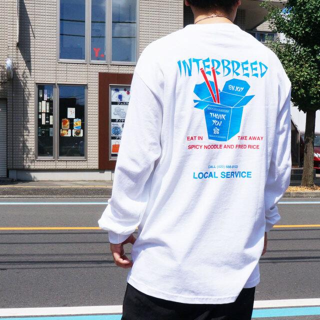 全3色 INTERBREED インターブリード ロンT Tシャツ LOCAL SERVICE L/S Tee  ブラック ホワイト サンド