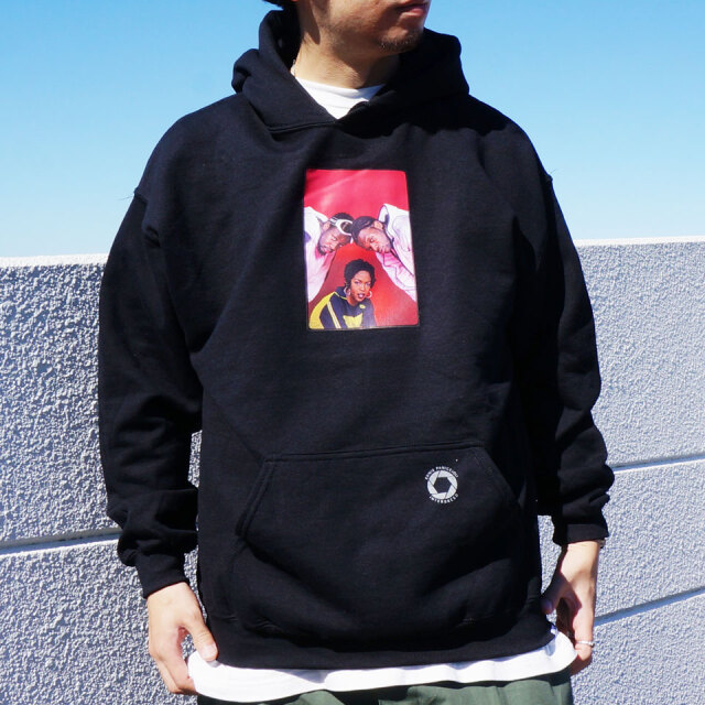 "SALE セール INTERBREED インターブリード Ernie Paniccioli for INTERBREED ""The Fugees '93 Hoodie"" ブラック"
