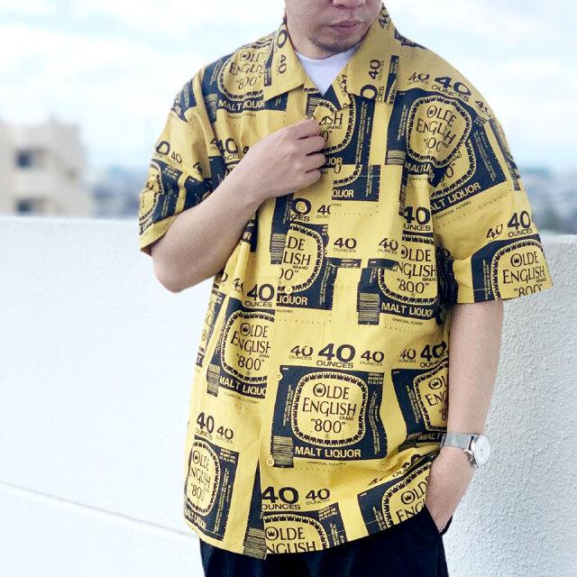 SALE セール 全2色 インターブリード INTERBREED 半袖シャツ DRUNKERS S/S SHIRT ホワイト マスタード