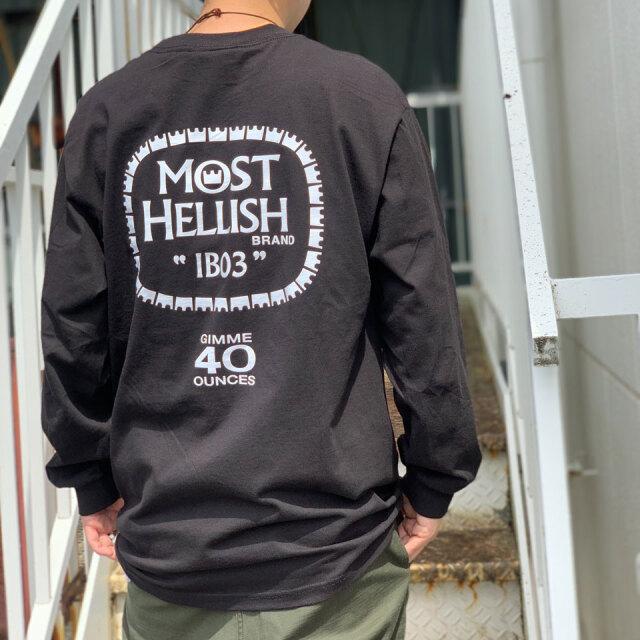 """全2色 インターブリード INTERBREED ロンT Tシャツ MOST HELLISH L/S Tee"""" 長袖 ブラック ゴールド"""