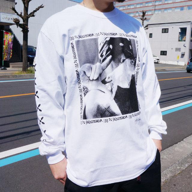 JAY ADAMS ジェイアダムス ロンT Tシャツ PHOTO PRINT  L/S Tee ホワイト ブラック