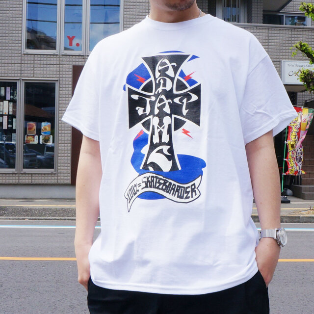 全2色 JAY ADAMS ジェイアダムス Tシャツ CROSS LOGO S/S Tee ホワイト ブラック 白 黒