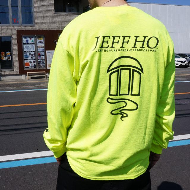 ジェフホー JEFF HO ロンT Tシャツ LOGO L/S Tee ブラック オレンジ ネオンイエロー 長袖